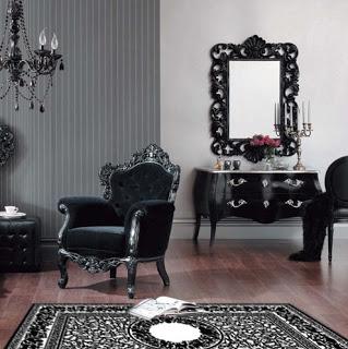 Stol, miza, preproga, ogledalo, lestenec, ...