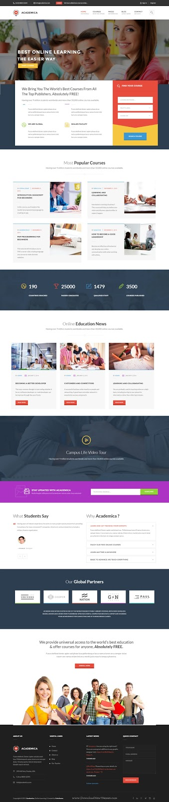 Academica WordPress Theme