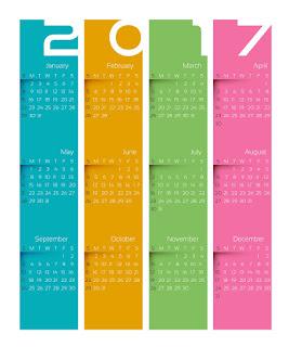 2017カレンダー無料テンプレート233