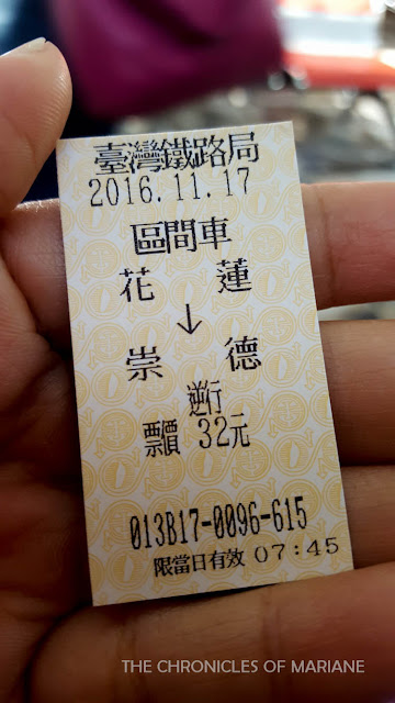 taiwan train ticket
