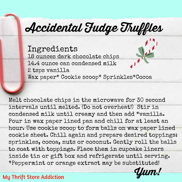 simple fudge truffle recipe
