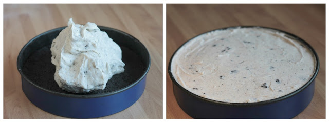 5 Ingredients Oreo Cheesecake, quick and easy to make and to top it all off it's no bake!! www.goodfoodshared.blogspot.com