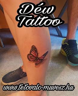 Pillangó tetoválás Déw art
