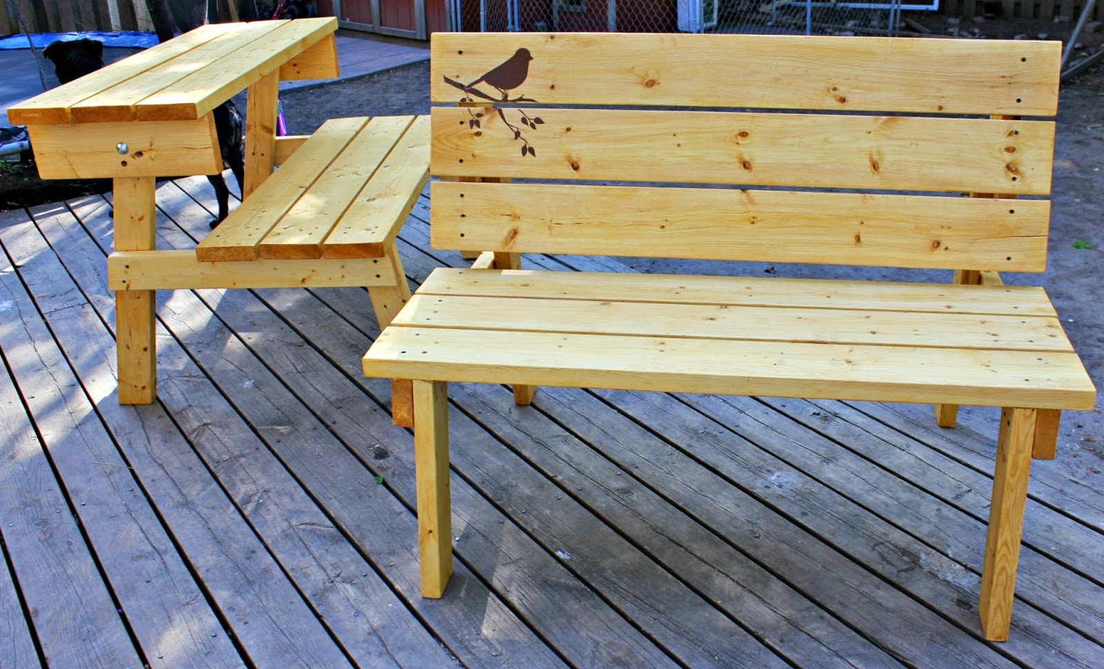 The Good Kind Of Crazy Convertible Bench Picnic Table You