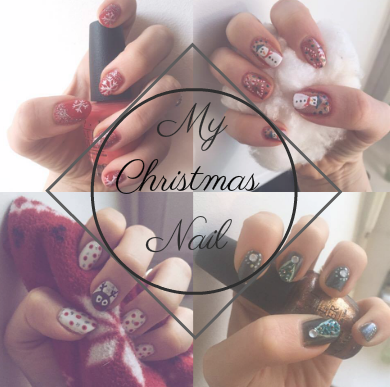 goldandgreen christmas nailart