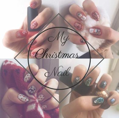 goldandgreen christmas nailart