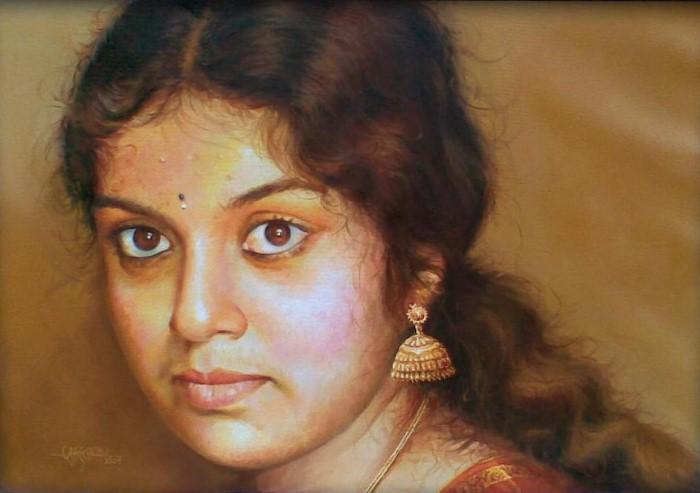 Портреты в стиле реализм. Rajasekharan Parameswaran 11