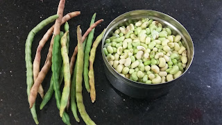 Bobbarlu or lobia or black eyed beans in english