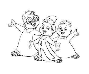 #12 Alvin and the Chipmunks Coloring Page