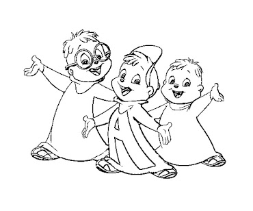 alvin chipmunks halloween coloring pages - photo#5