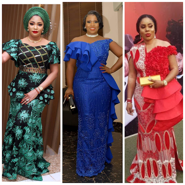 30 Colourful Pictures of the Latest Aso-Ebi styles 2018 Seen Over the Weekend