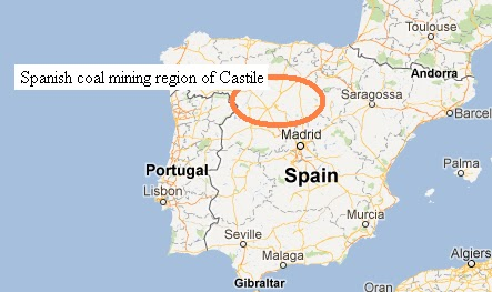 Map_of_Spain_coal_mining_region_of_Castile_-_Google_Maps Castile Map on kingdom of galicia, iberian peninsula map, south valley map, kingdom of navarre map, crown of aragon, valencian community map, extremadura map, clayton map, byzantine empire map, bilbao map, isabella of castile, setenil de las bodegas map, kingdom of sardinia, kingdom of france map, swabia map, aragon map, kingdom of asturias, kingdom of england map, alfonso x of castile, habsburg spain, eden map, kingdom of aragon, aquitaine map, archduchy of austria map, kingdom of navarre, ancient iberia map, granada map, pike map, covington map, ferdinand iii of castile, crown of castile, kingdom of portugal,