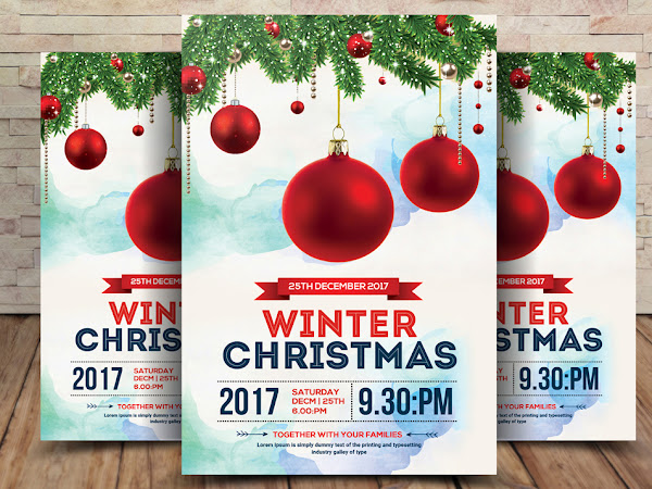 Download Christmas Winter Flyer Psd Template Free