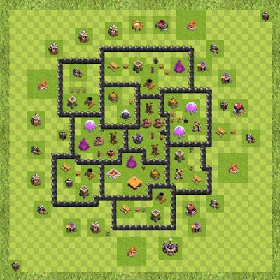 War Base Town Hall Level 8 By TedMcBear (Invecta TH 8 Layout)