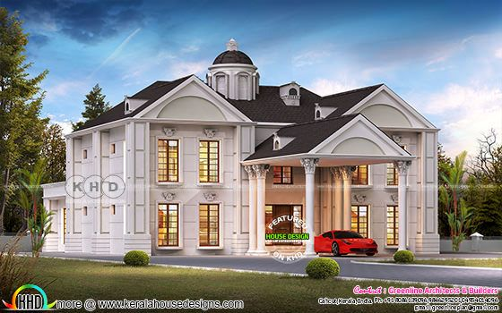 Colonial 5 bedroom luxury home design