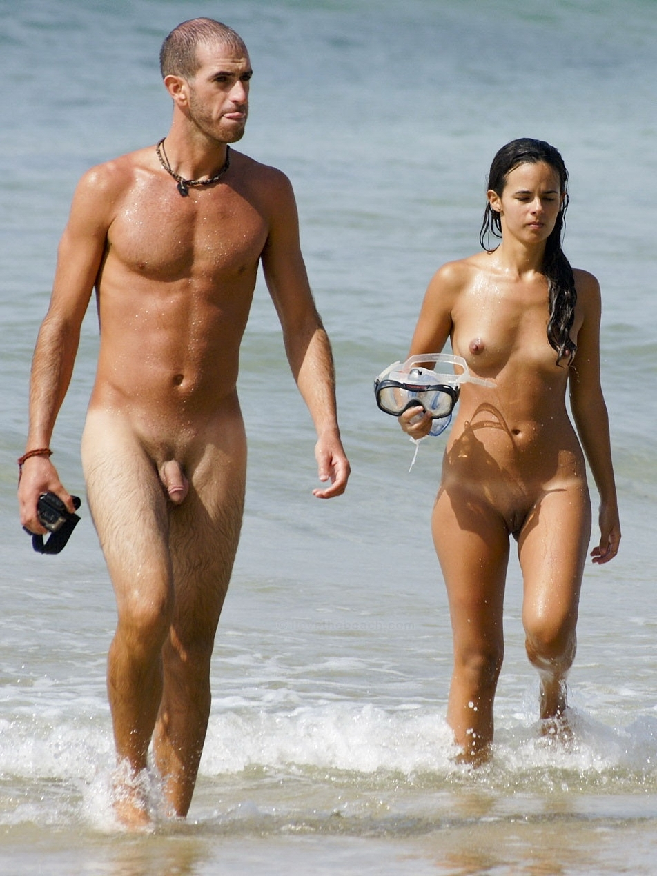 Nudism - Photo - Hq  Nudists - Couple - Nude Beach-4874