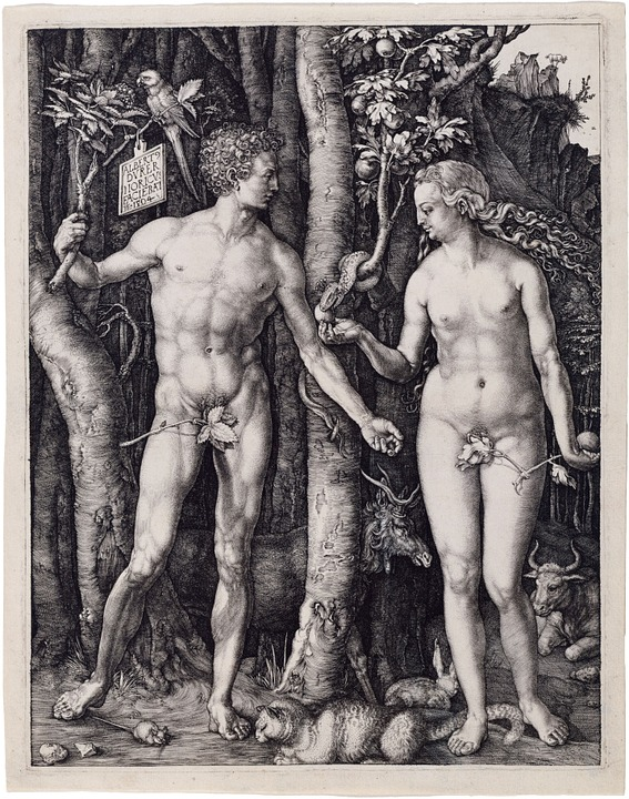 Adam and Eve at the Garden of Eden