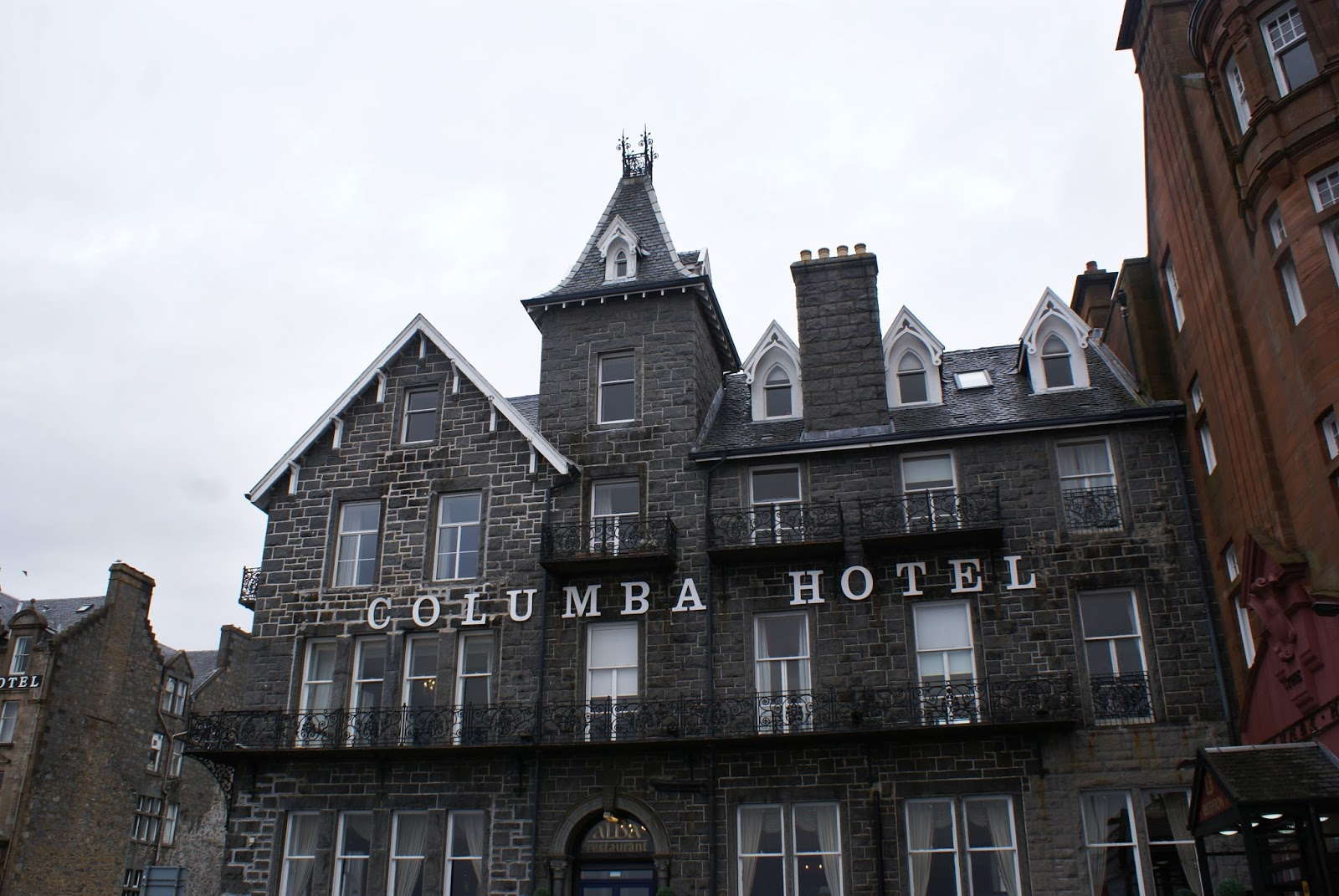 columba hotel oban argyll highlands scotland uk great britain camomille blend