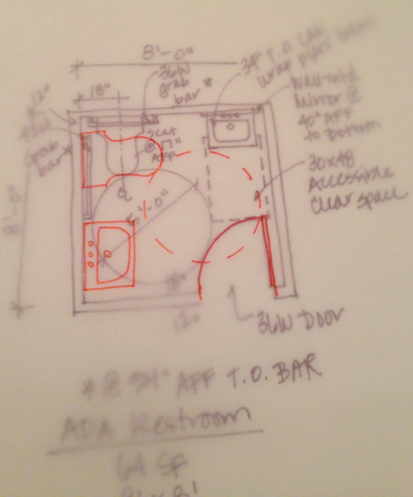 The Ncidq Diaries Space Planning 64 Sf Ada Restroom