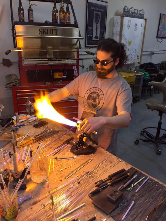 The Glass Park: A studio tour of a hot glass shop