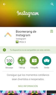 Boomerang de Instagram.
