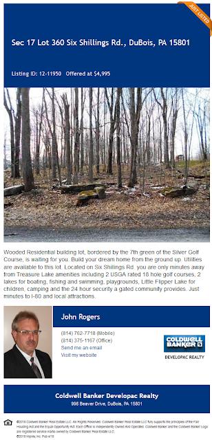 Six Shillings Road lot 360 Treasure Lake John Rogers Coldwell Banker Developac Realty For Sale