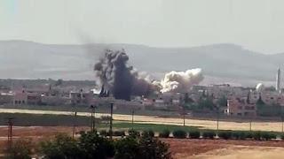 تلعفر : قصف جوي يستهدف موكبا لقيادي بارز في داعش الارهابي