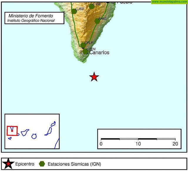 Un nuevo terremoto se registró en la noche de ayer al sur de Fuencaliente
