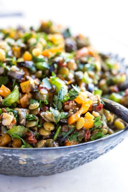 sun-dried tomato lentil salad recipe