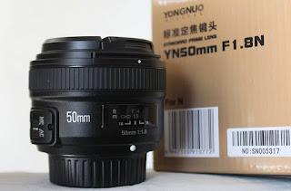 Jual Lensa Fix 50mm AFS Nikon - Yn-Yongnuo 50mm