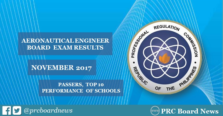 November 2017 Aeronautical Engineer board exam