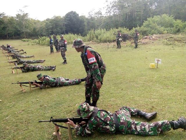 Korem 141/Tp Permantap Kemampuan Tembak Personelnya