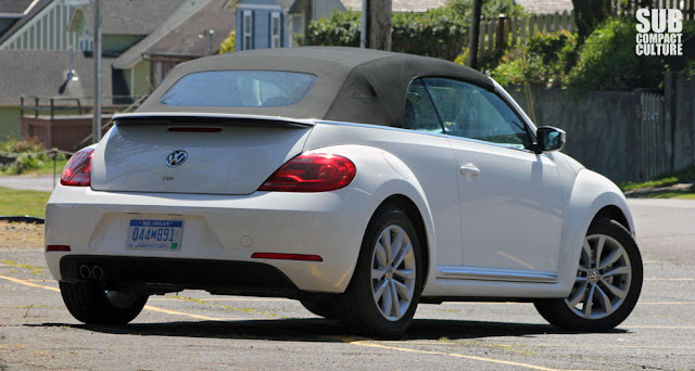 2013 Volkswagen Beetle with the top up