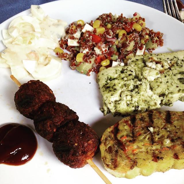 vegetarisch Grillen Bürger Grillers Roulette Grillkäse