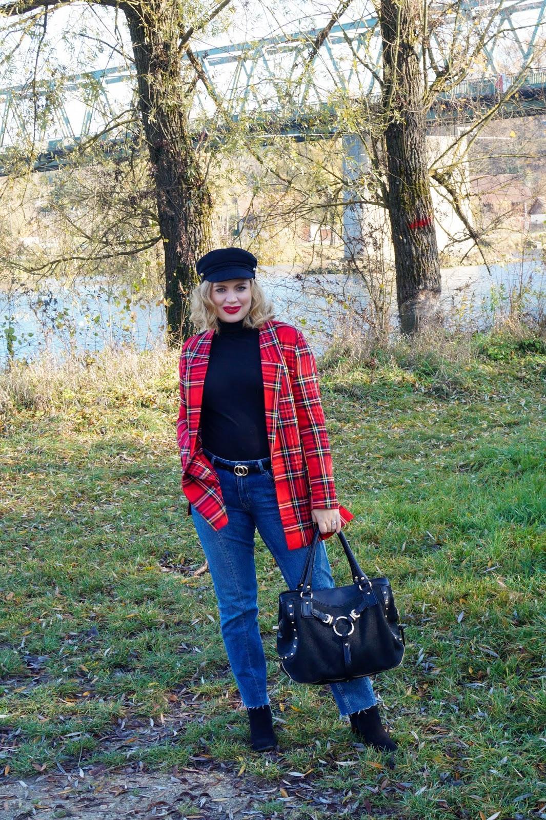 4b94c216137d Madame Schischi: How to dress down a plaid blazer jacket...
