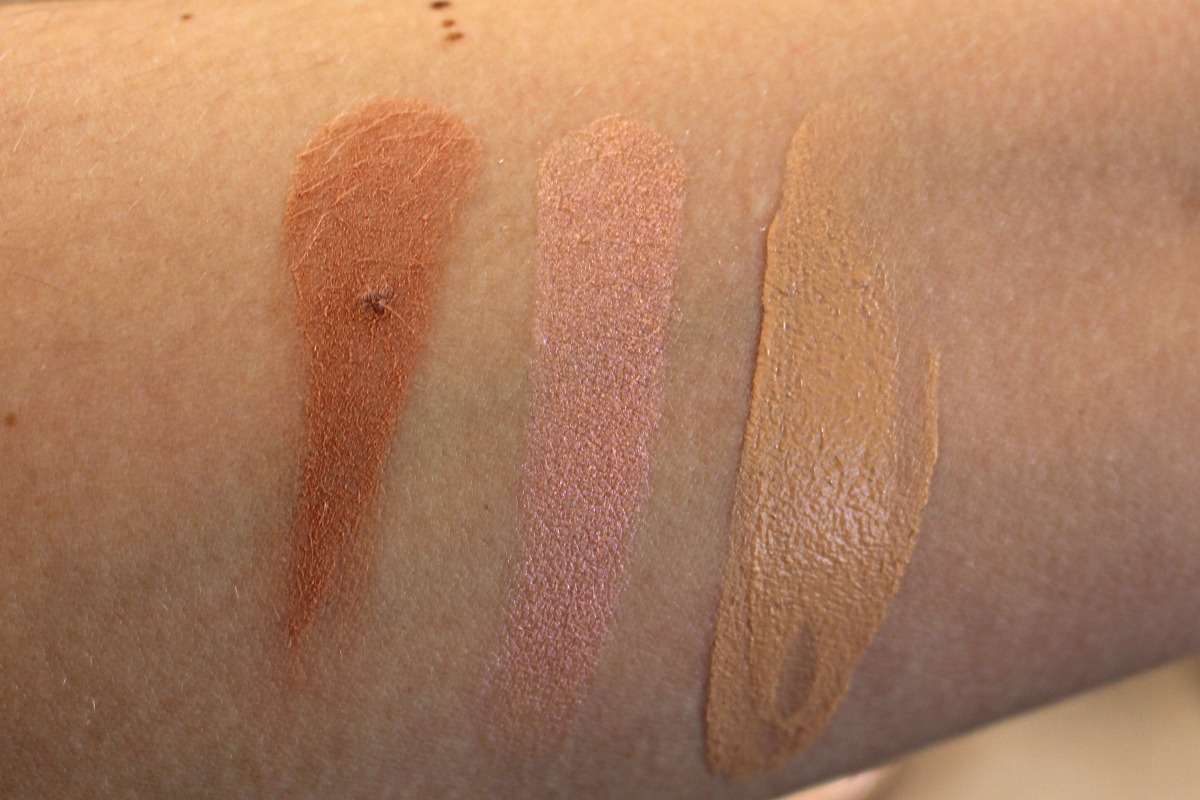 Urban Decay summer look swatches