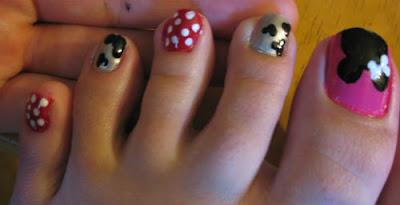 Imagenes De Uñas De Pies Mickey Mouse Decorado Y Moda