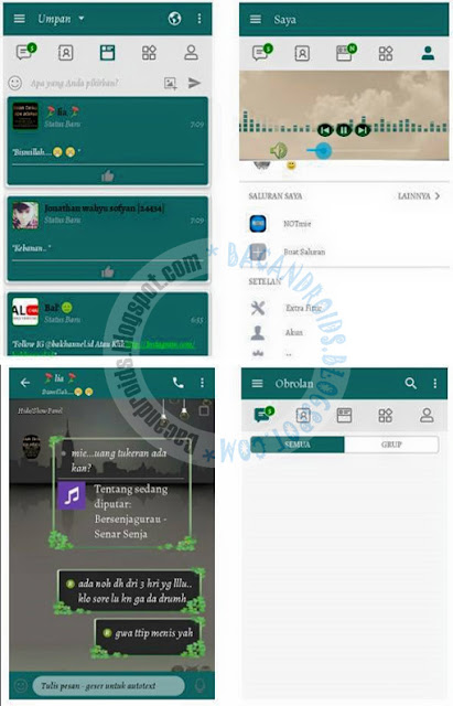 chatme Simple green bbm 3.3.6.51 Clone unclone