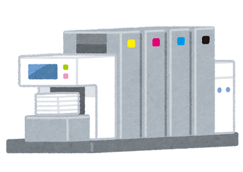 オフセット印刷機のイラスト