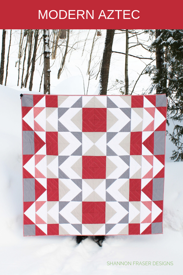 Modern Aztec Quilt in the wild | Shannon Fraser Designs