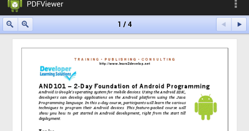 Programming pdf android day in a