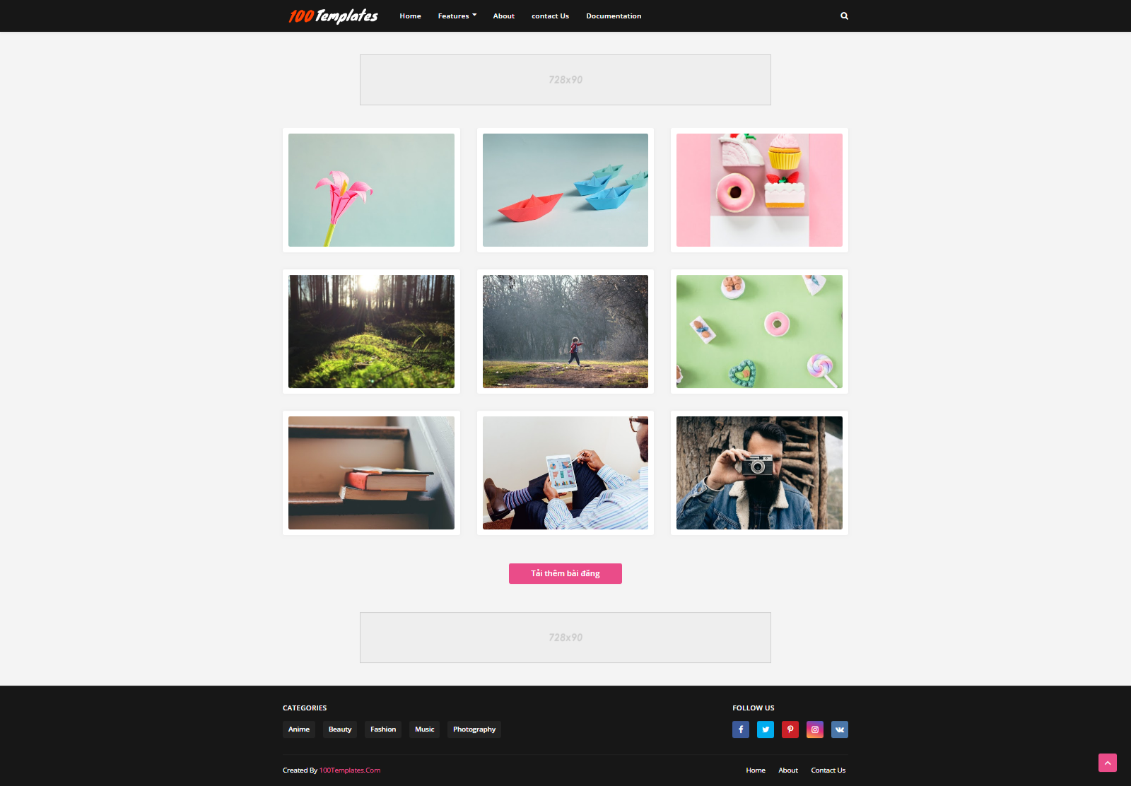 Phorto Blogger Template Free Download