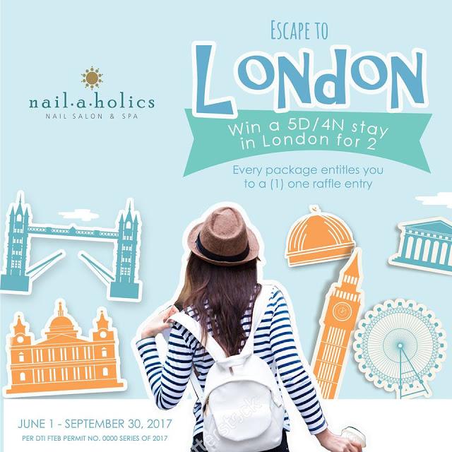 Nailaholics Nail Salon and Spa Escape To London Promo
