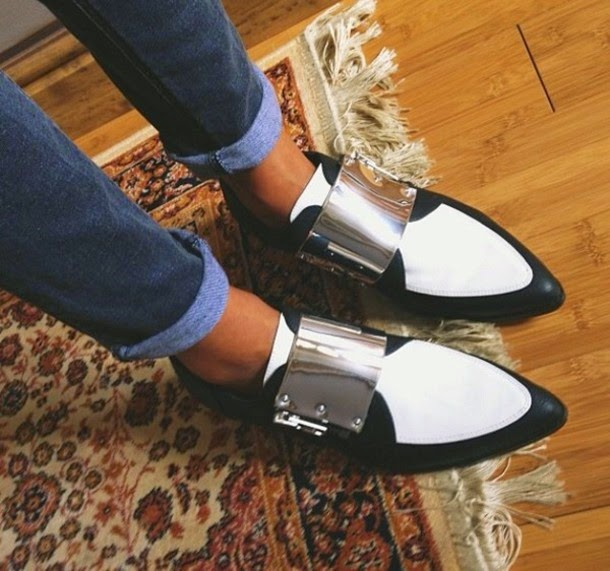trend, trend 2015, pointed loafers flats, pointy shoes, black white pointed loafers