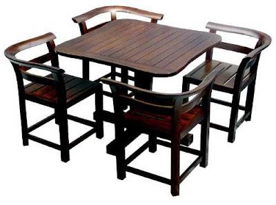 Model Meja Kursi Kayu Unik Untuk Ruang Makan