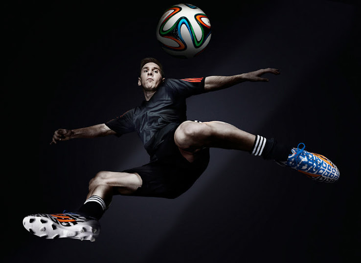 While The Whole Adidas  World Cup Boot Pack Features The Colors Black White Orange Lionel Messi Is The Only Player Whose Boot Features The Blue
