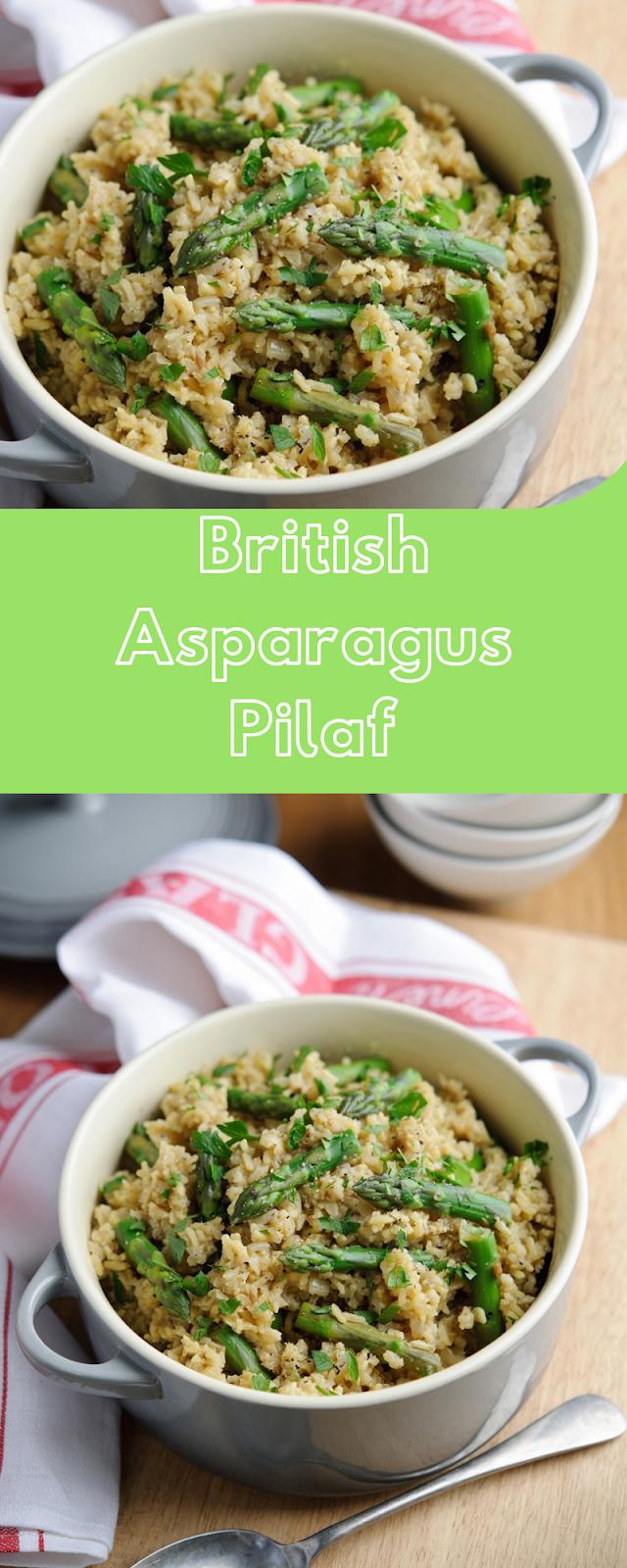 British Asparagus Pilaf