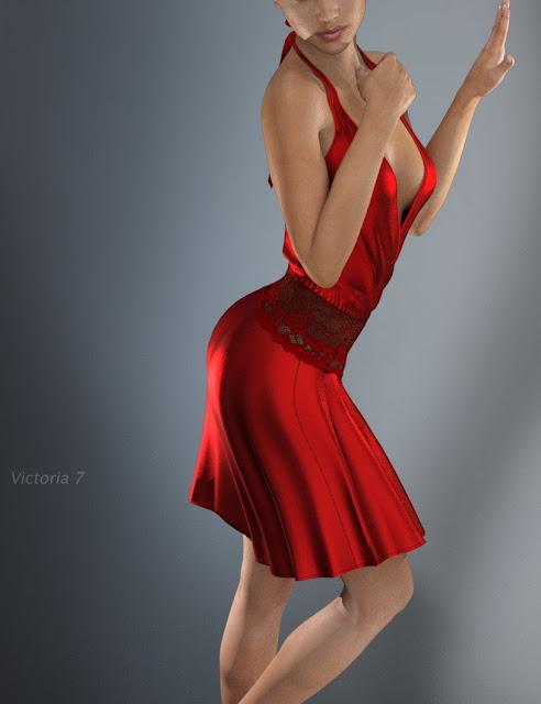 Hongyu's Evening Dress for Genesis 3 Female
