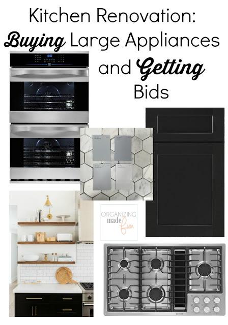 Kitchen Renovation: Buying Large Appliances and Getting Bids :: OrganizingMadeFun.com