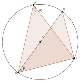 os triângulos ABC e CDB